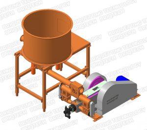 presa brichetat mecanica BT-070-800Max brichete din biomasa