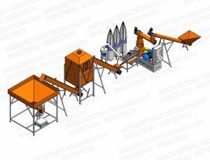 minicomplex presa peleti biomasa
